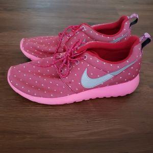 Nike Rosherun Print 677784-606 Red Athletic Runnin